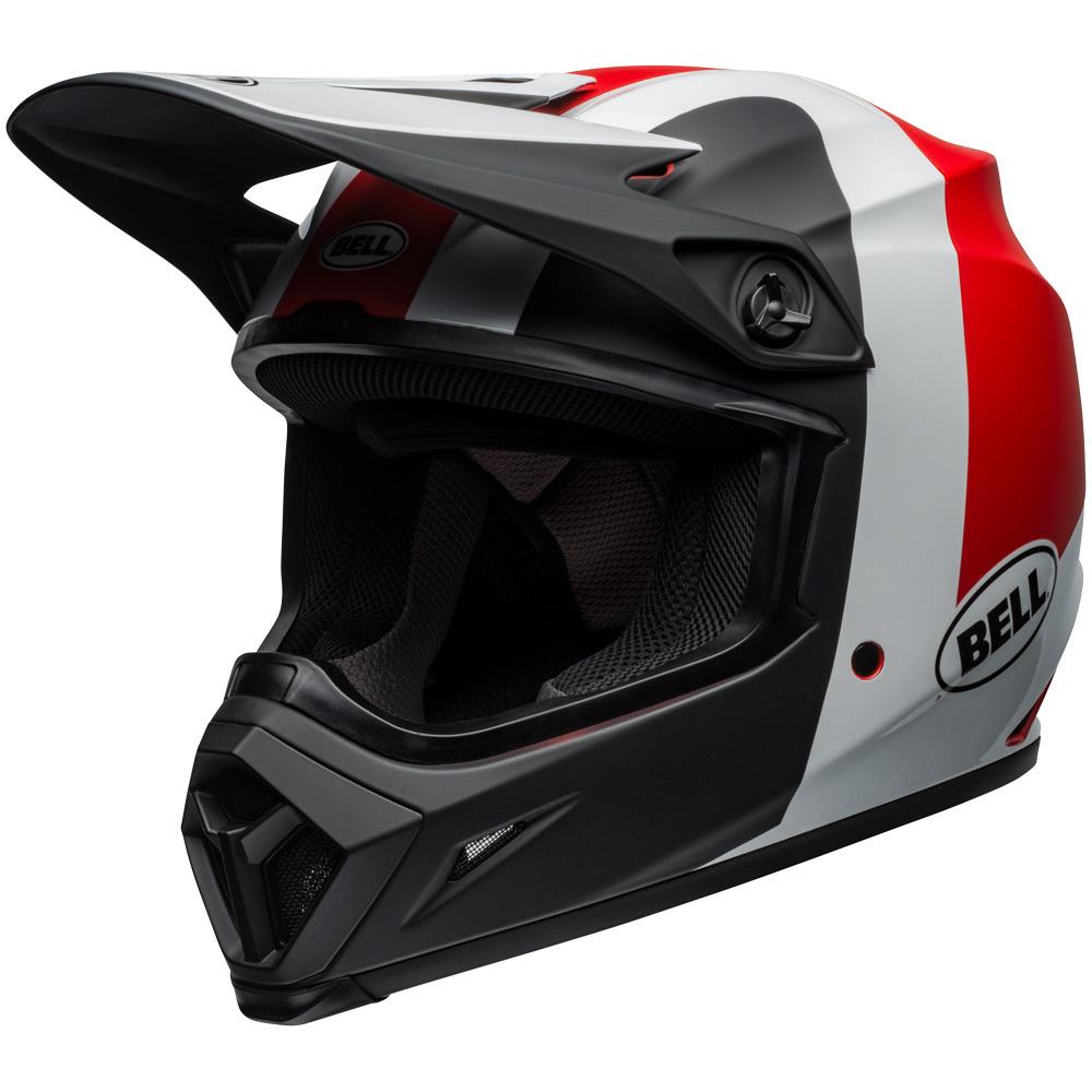 NEW Bell 2019 MX-9 Presence Black White Red MIPS Dirt Bike Motocross Helmet