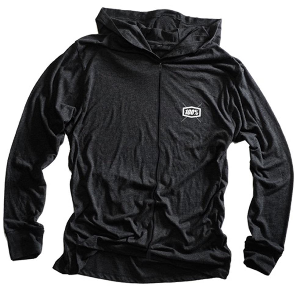 100% Lux Charcoal Lightweight Zip Up Hoodie - 100% Percent