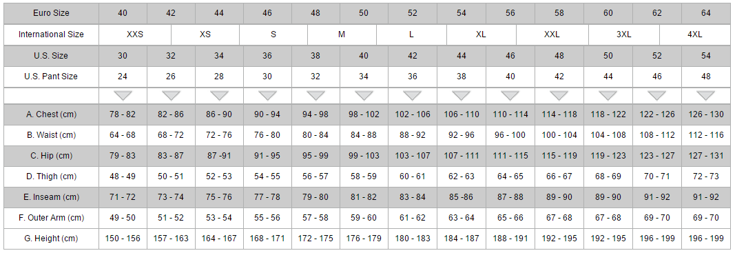 mens alpinestars conversion size chart in centimeters