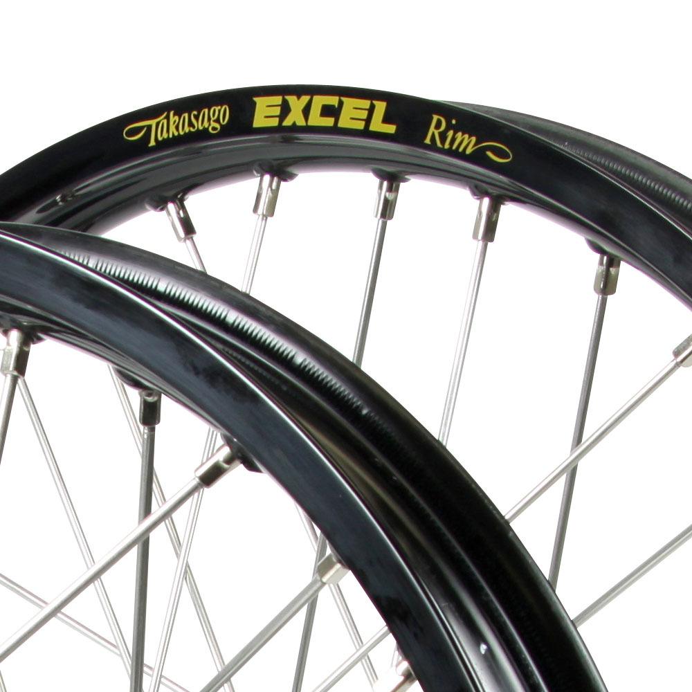 Talon Suzuki RM125/250 01-09 Black/Black Excel Wheel Set