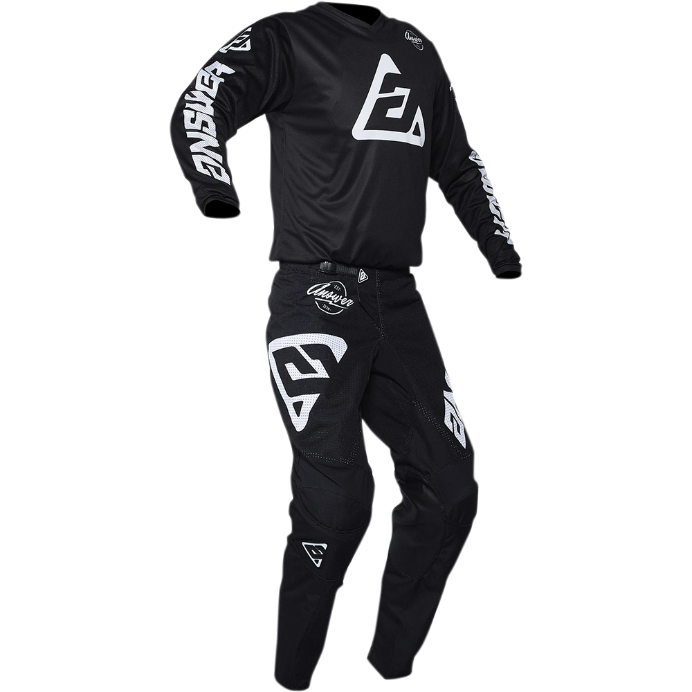 NEW-Answer-MX-2020-Arkon-Bold-Black-White-Dirtbike-Motocross-Riding-Jersey thumbnail 11