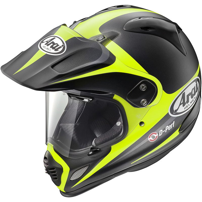 Arai XD-4 Route Yellow Dual Sport Adventure Helmet