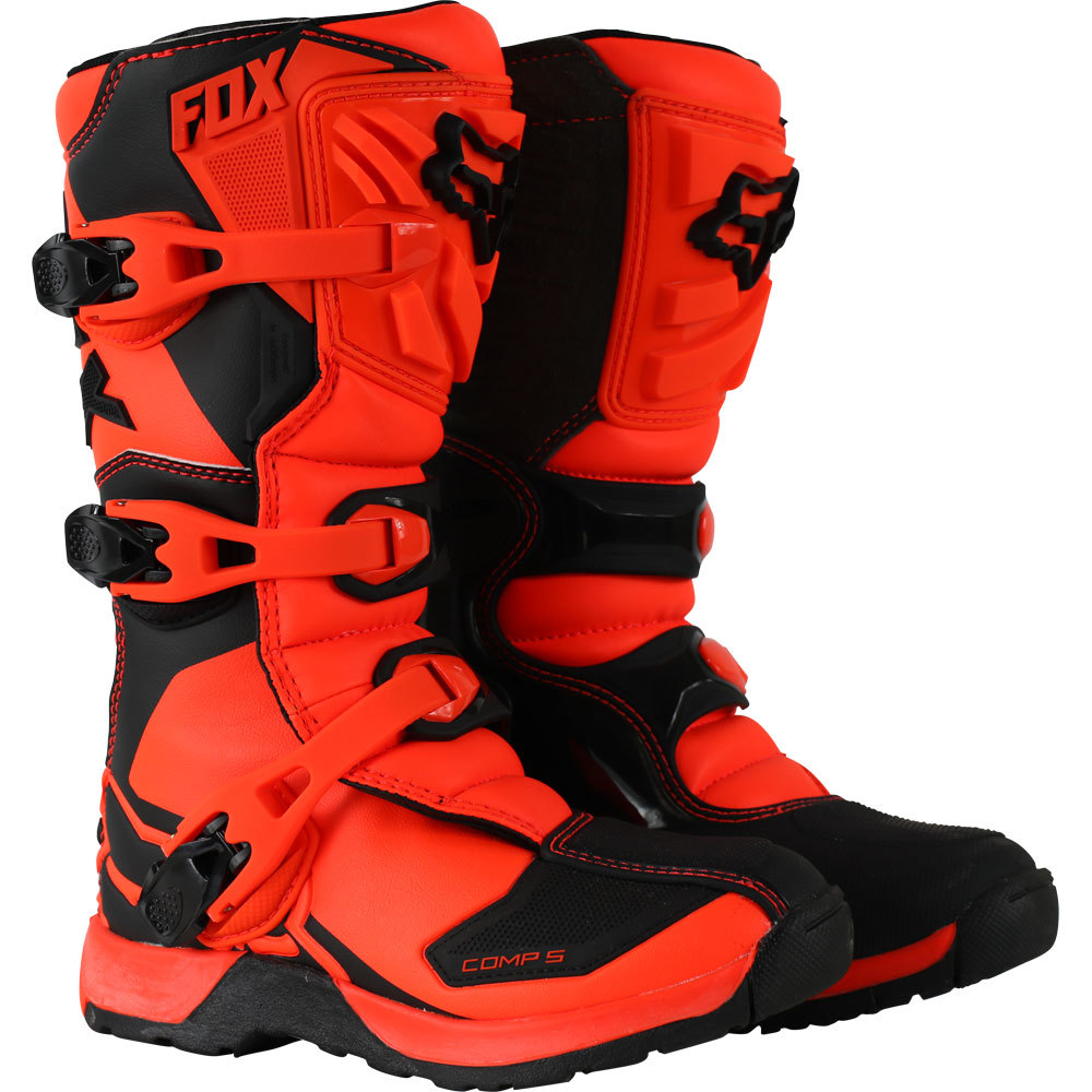 Details about Fox Racing NEW 2019 Youth Mx Comp 5 Orange Black Motocross Dirt Bike Kids Boots