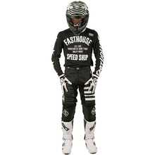 Fasthouse 2018 L1 Classic Stripes Black/White Gear Combo