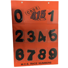 MCS 110mm Junior Black Race Numbers